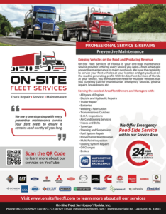 Preventive Service and Repair by On-Site Fleet Services of Florida