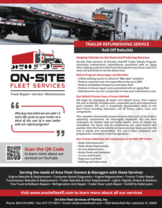 Roll-Off Trailer Refurb by On-Site Fleet Services of Florida